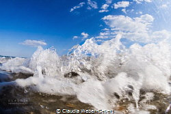 little splash wave....... by Claudia Weber-Gebert